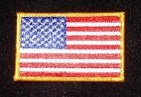 American flag patch is part of UAV Uniform Patches set