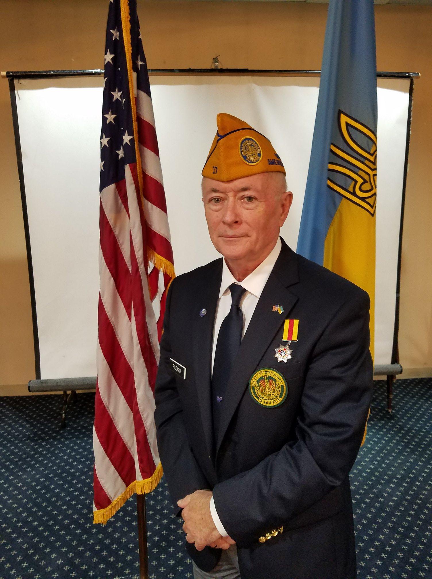 Ukrainian American Veterans (UAV) National Commander Ihor Rudko