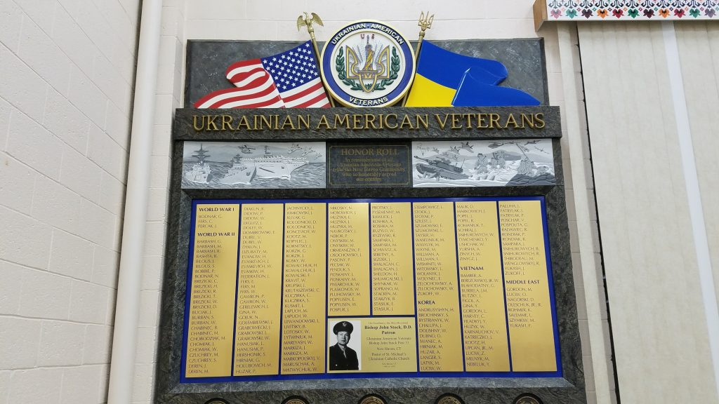 UAV Post 33 Honor Roll at St. Michael the Archangel Ukrainian Catholic Church